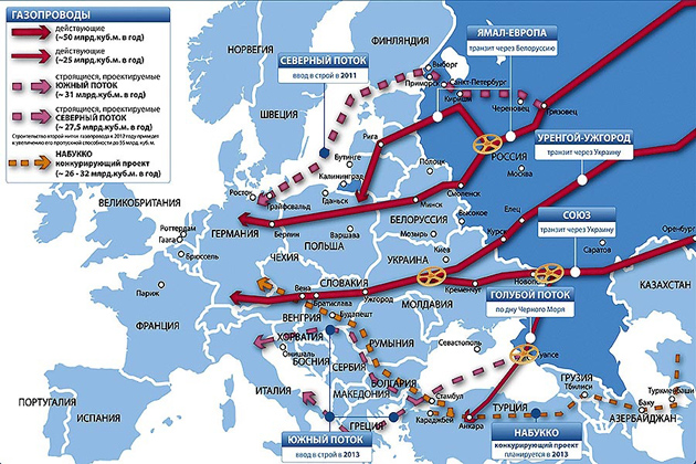 Газпром наступает на Европу