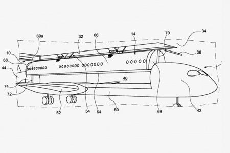 Airbus запатентовал самолет со съемной пассажирской каютой