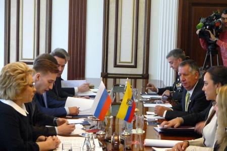 Валентина Матвиенко: «Эквадор – наш перспективный стратегический партнер»
