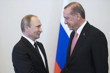Путин и Эрдоган начали встречу с рукопожатия