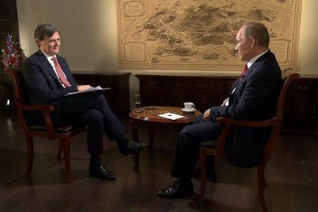 Интервью В.В.Путина международному информационному холдингу Bloomberg