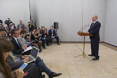 Заявление В.В.Путина для прессы по итогам визита в Берлин
