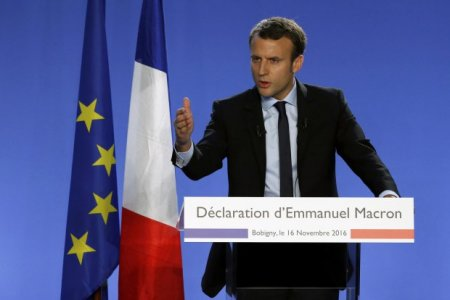 Лидер президентской гонки во Франции - Эммануэль Макрон
