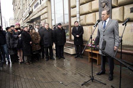 Вступительное слово Министра иностранных дел России С.В.Лаврова в ходе церемонии открытия мемориальной доски в память А.М.Коллонтай, Москва, 28 марта 2017 года