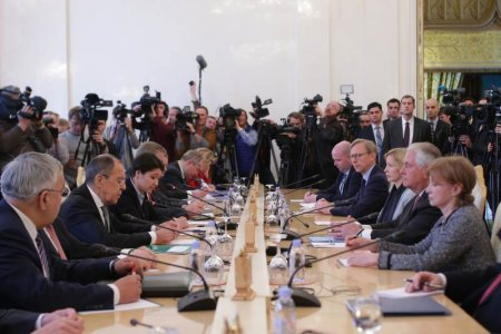 Вступительное слово Министра иностранных дел России С.В.Лаврова в ходе переговоров с Государственным секретарем США Р.Тиллерсоном, Москва, 12 апреля 2017 года