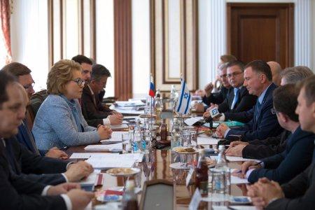 Председатель Совета Федерации провела встречу с Председателем Кнессета Государства Израиль