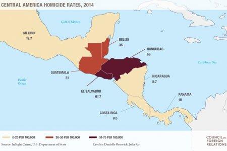 Социальная нестабильность Центральной Америки угрожает безопасности США