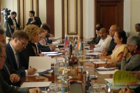 Индийские парламентарии в Москве