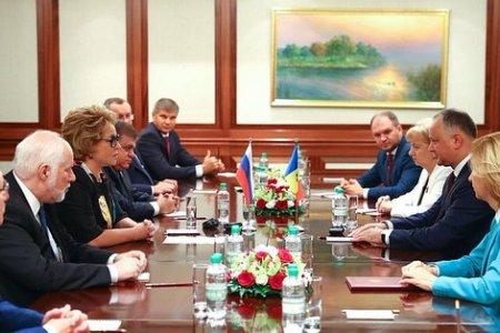 Председатель СФ В. Матвиенко провела встречу с Президентом Республики Молдова И. Додоном