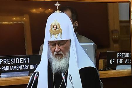 Патриарх Кирилл: «Современному миру необходим нравственный консенсус»