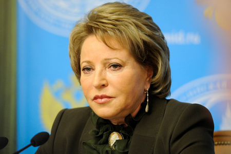 В. Матвиенко предложила провести Всемирную конференцию по налаживанию межрелигиозного и межцивилизационного диалога