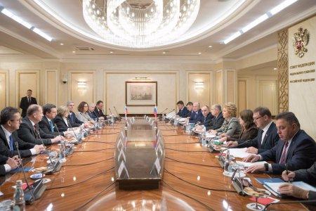 Председатель СФ В. Матвиенко провела встречу с Председателем Национального совета Словакии А. Данко