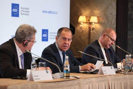 Выступление и ответы на вопросы Министра иностранных дел России С.В.Лаврова на встрече с членами Ассоциации европейского бизнеса в Российской Федерации, Москва, 31 октября 2017 года