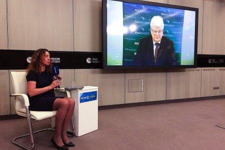 Пресс-конференция Постоянного представителя России при ЕС Владимира Чижова после саммита ЕС в Брюсселе