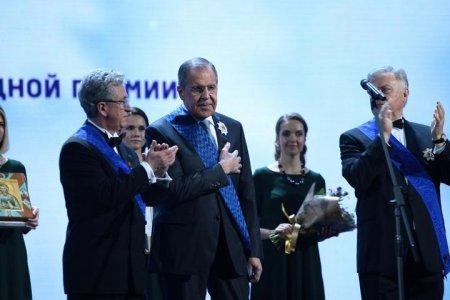 Сергей Лавров награжден высокой наградой «За Веру и Верность»
