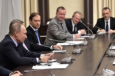 Встреча Президента Российской Федерации Владимира Путина с французскими компаниями-членами Экономического совета CCI France Russie