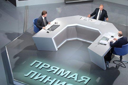«Прямая линия» Владимира Путина: «Для России очевидно, что мы должны защищать свои интересы»
