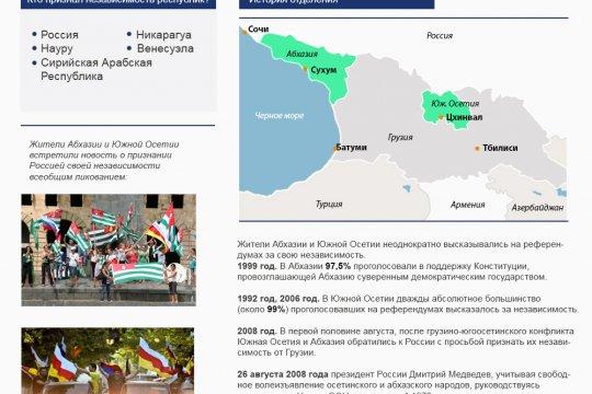 10-летие признания независимости Абхазии и Южной Осетии Россией
