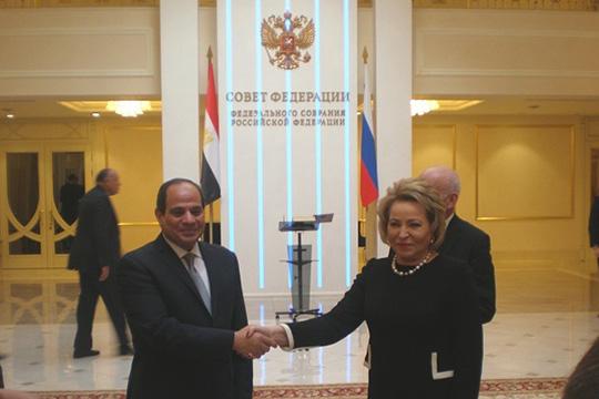 Президент Египта обратился к «великому русскому народу» в Совете Федерации
