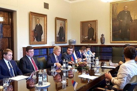 Делегация Совета Федерации посетила Парламент Финляндии