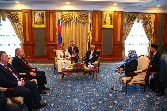 Сотрудничество законодателей России и Государства Бруней-Даруссалам вносит большой вклад в развитие двусторонних отношений – В. Матвиенко