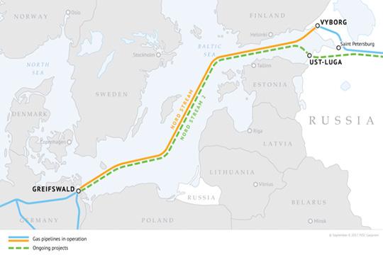 Германия обеспокоена перспективой жестких шагов Трампа по «Северному потоку-2»