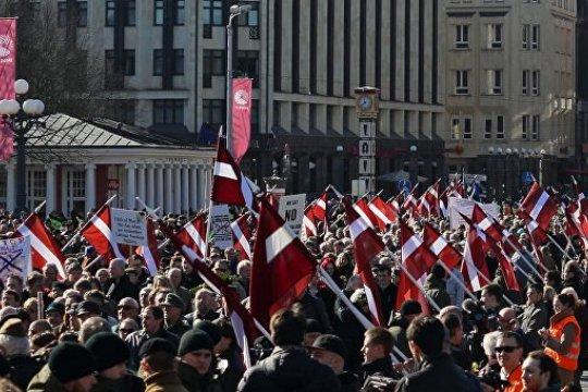 В МИД России призвали дать оценку шествию бывших эсэсовцев в Риге