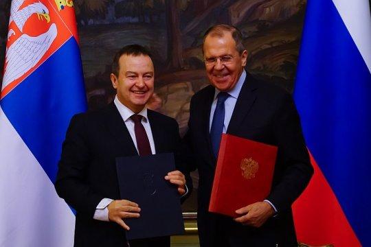 Глава российского МИД Сергей Лавров подвел итоги переговоров со своим сербским коллегой Ивицой Дачичем