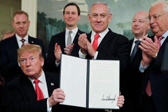 Судьба Израиля после решения Трампа о Голанах