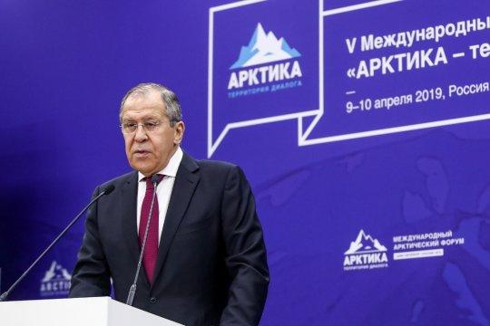 Глава МИД России Сергей Лавров выступил на V Международном форуме «Арктика – территория диалога»