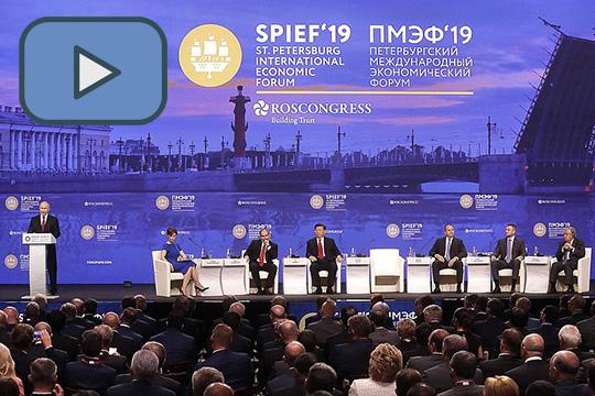 Путин выступил на пленарном заседании Петербургского международного экономического форума