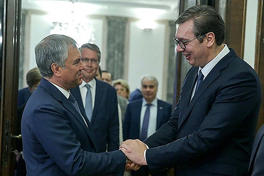Strong support of president Putin to Serbia