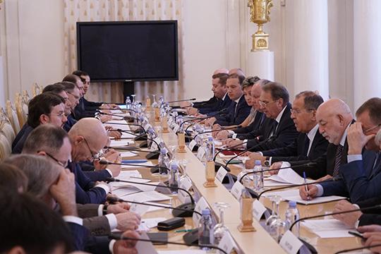 Сергей Лавров выступил на заседании Делового совета при Министре иностранных дел России