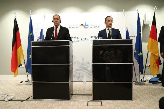Глава МИД России Сергей Лавров подвел итоги переговоров с немецким коллегой Х. Маасом