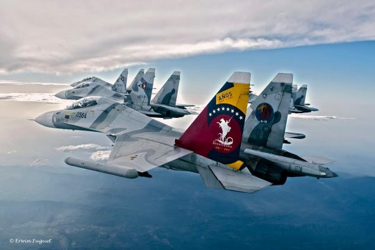 Пентагон обвинил венесуэльский СУ-30 в «агрессивном сопровождении» американского самолета – разведчика