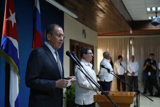 Сергей Лавров и его кубинский коллега Бруно Родригес провели пресс-конференцию по итогам переговоров в Гаване