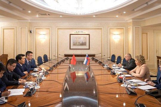 В. Матвиенко: Совет Федерации и Всекитайское собрание народных представителей играют важную роль в развитии отношений России и Китая