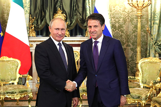 Джузеппе Конте: Россия, конечно, предлагает важнейшие возможности для наших компаний и предприятий