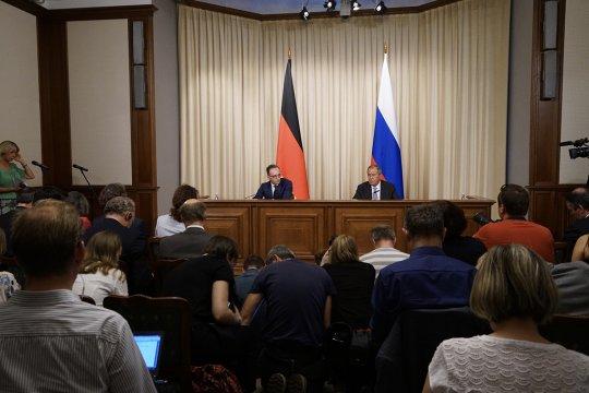 Глава МИД России Сергей Лавров подвёл итоги переговоров с немецким коллегой Хайко Маасом