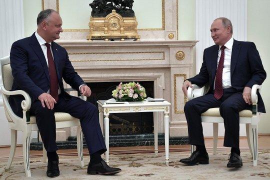Встреча с Президентом Молдовы Игорем Додоном