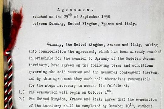 Мюнхенское соглашение 1938 г.: пролог к мировой войне