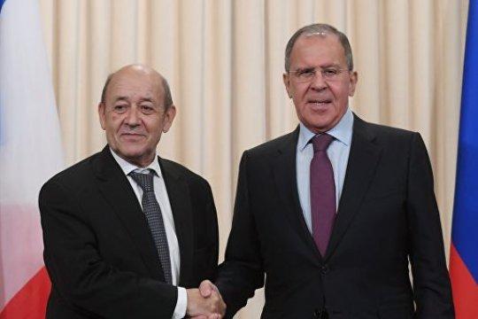 Встреча глав МИД и Минобороны России и Франции в формате «2+2» состоится в Москве