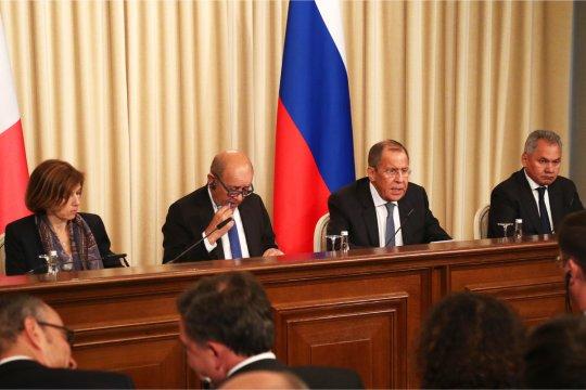 Выступление Сергея Лаврова на пресс-конференции по итогам российско-французских переговоров в формате «2+2»