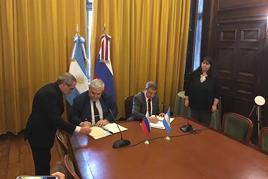 Россия и Аргентина подписали протокол о сотрудничестве в космосе