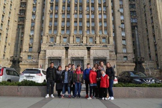 Воспитанники подшефного МИД России детского дома посетили Москву
