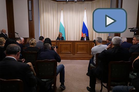 Сергей Лавров подвел итоги переговоров с главой МИД Болгарии