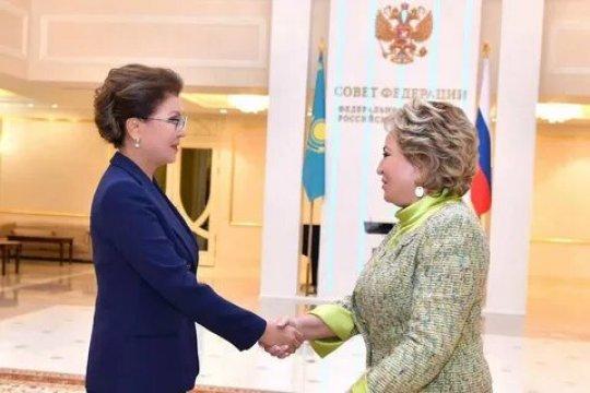Глава Совета Федерации Валентина Матвиенко провела встречу с казахстанской коллегой Даригой Назарбаевой