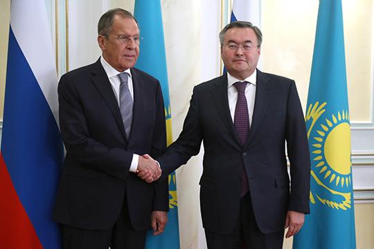 Сергей Лавров подвел итоги переговоров с казахстанским коллегой Мухтаром Тлеуберди