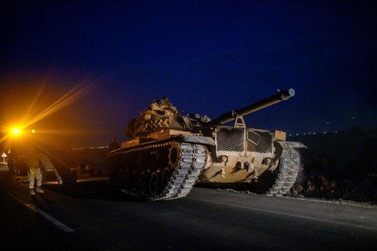 Передовые отряды турецкой армии вошли на территорию Сирии