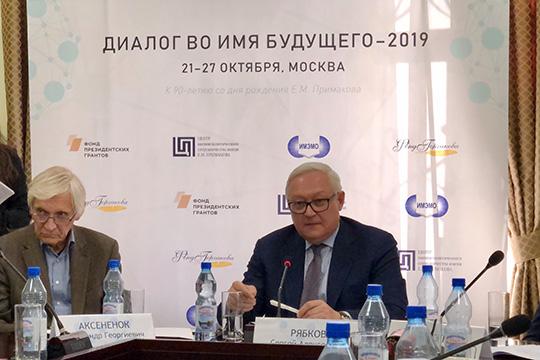 С.Рябков: Мы будем и далее предлагать нашим американским коллегам дорожные карты и другие идеи по выводу отношений из нынешнего плачевного состояния
